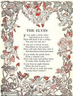 The Elves    illustration by Ethel K. Burgess