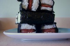 Seaweed, rice and Spam (I insist that you pan-fry it and use a teriyaki glaze) make up Spam musubi, a classic Hawaiian on-the-go food.