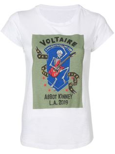 b0f41871 Shop Zadig&Voltaire logo print T-shirt Rock Tees, Cotton Logo, Zadig And  Voltaire