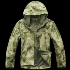 TYPHON Softshell Fleece Jacket TAD Kryptek Sharkskin SWAT Black Stealth Hoodie