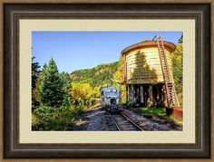 Galloping Goose Framed Print featuring the photograph Galloping Goose 5 At Locomotive Water Tank by Debra Martz