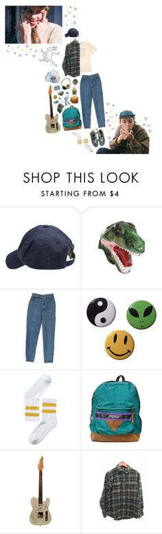 Mac DeMarco by dianagva ❤ liked on Polyvore featuring Scotch Shrunk, Monki, Toast, JanSport, Vans, PullBear, music, art and macdemarco