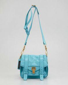 Proenza Schouler PS1 Pouch Satchel Bag, Lagoon on shopstyle.com