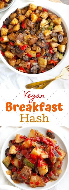 This hearty vegan breakfast hash has just a few healthy ingredients and is ready in until 25 minutes! Crispy potatoes and sautéed mushrooms and peppers! potato al horno asadas fritas recetas diet diet plan diet recipes recipes Wallpaper Food, Clean Eating Snacks, Healthy Eating, Eating Vegan, Vegan Food, Healthy Food, Healthy Vegan Breakfast, Vegan On The Go Breakfast, Healthy Breakfast Potatoes