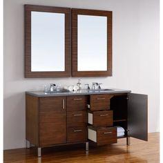 James Martin Metropolitan 60 in. Double Bathroom Vanity - Double Sink Vanities at Hayneedle