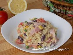 Absolut Delicios - Retete culinare: SALATE Romanian Food, Romanian Recipes, 30 Minute Meals, Healthy Salad Recipes, Potato Salad, Cake Recipes, Deserts, Brunch, Food And Drink