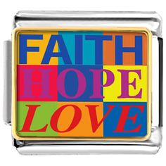 Faith Hope Love Italian Charm Bracelet Pugster.com