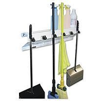 "Ex-Cell - The Clincher Mop & Broom Holder, 34""w x 5 1/2""d x 7 1/2""h, White Gloss -  Each"