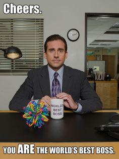 Happy Boss's Day to the World's Best Boss, Michael Scott. #TheOffice