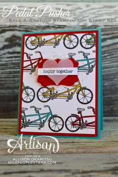 nice people STAMP!: Pedal Pusher 'Happy Together' Card