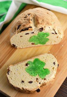 Hidden Shamrock Irish Soda Bread - Happy St. Patricks Day