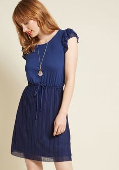 ModCloth Positive Philosophy Knit Dress in Navy in M - Cap A-line Knee Length Work Dresses For Women, Dresses For Sale, Cute Casual Dresses, Nice Dresses, Prom Dresses, Jersey Knit Dress, Professional Dresses, Knee Length Dresses, Fashion Dresses