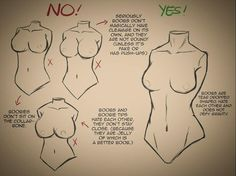 How to draw a female upper body