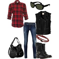 Love the lumberjack look with a cozy flannel