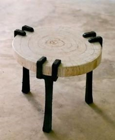 This is a very unique and creative stool that also seems like it is very resourceful because the stool legs look like it is a very old but strong piece of metal and the seat is just a piece of log. During my design I could also maybe use the shape or to use piece of wood that could be reused