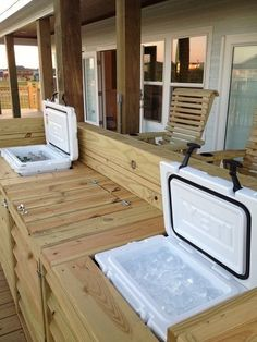 Outdoor bar with sink and slot for yeti ice chest. All easy made with minimal carpenter skills and the right ryobi tools of course. Can be built with or without sink depending on if you have water access.