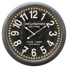 Have to have it. Chef Le Normand 23.5 in. Wall Clock - $77.4 @hayneedle
