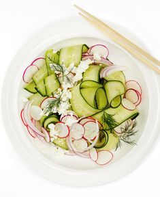 #salad #dill #cucumber #radish #feta #sider #holiday #christmas #recipe #cooking #foodlavie Radish Recipes, Feta, Avocado Egg, Cucumber, Zucchini, Eggs, Vegetables, Cooking, Breakfast