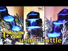 [DIY] How to make cemented waterfall fountain (Relaxing sound of waterfall ). Enjoy this relaxing waterfall fountain making at home. Read full to know the material's name used in this project. *How to connect LED Fairy Fountain, Home Fountain, Indoor Fountain, Garden Fountains, Decorative Water Fountain, Bamboo Water Fountain, Diy Waterfall, Waterfall Fountain, Indoor Water Features