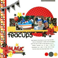 Teacups featuring the new Magic Collection from Queen & Co - Scrapbook.com