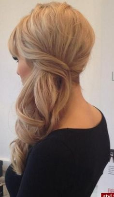 Love this, want to add a big loose braid across the back. Perfect size curls and volume/height