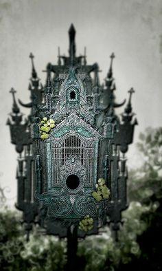 gothic bird house(⁀‵⁀,).•*´¨`*•.¸¸.•*´¨`*レo√乇♥✘ღ✘•✿• ❤ ♪♪ლ(╹◡╹)ლ♪♪♥♥