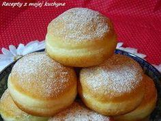 RECEPTY Z MOJEJ KUCHYNE A ZÁHRADY: Šišky miesené s vodou Czech Recipes, Russian Recipes, Mini Cheesecakes, Something Sweet, Donuts, Brunch, Food And Drink, Bread, Baking