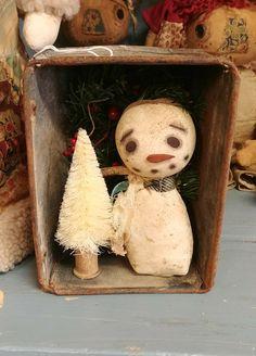 Primitive Snowmen, Primitive Christmas, Frosty The Snowmen, Snowman, Christmas Ideas, Christmas Crafts, Bowl Fillers, Primitives, Craft Ideas