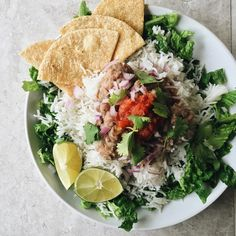 Kate Loves Kale - gigieatsvegan:   Beans and rice. Corn tortillas....