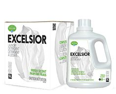 Excelsior Laundry Detergent. Big on savings, big on clean. See in store to learn more about our exclusive line of detergents.