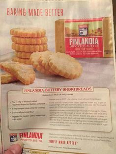 Finnish buttery shortbreads Holiday Baking, Hot Dog Buns, Delicious Desserts, Butter, Pure Products, Food, Essen, Meals, Yemek