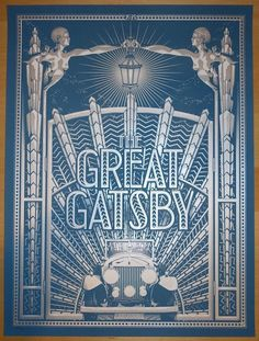 "The Great Gatsby - silkscreen event poster (click image for more detail) Artist: Tracie Ching Venue: N/A Location: N/A Date: 2014 Edition: 30; Signed and numbered only Size: 18"" x 24"" Condition: Mint"