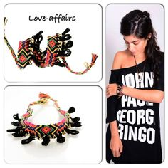 love-affairs friendship bracelet knit colors bright black boho style jewelry find us @ facebook: https://www.facebook.com/pages/Love-affairs/254558631354662