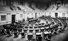 The Senate Chamber, as it looked around 1873 (Photo: Brady-Handy Photograph Collection/Library of Congress)