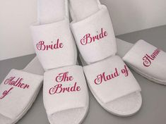 a42ba30a896da Mother of the bride slippers groom slippers bride slippers bridesmaid  slippers  bride Mother
