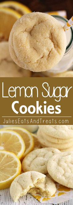 Lemon Sugar Cookies ~ Easy, Soft Lemon Pudding Cookies Rolled in Sugar!