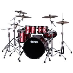 DDrum Reflex 522 5 PC KIT RED SPARKLE DRUM SET - SHELL PACK 22 inch Bass Drum #ddrum
