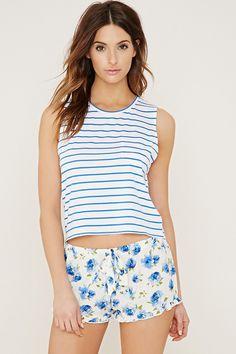 Floral Stripe PJ Set