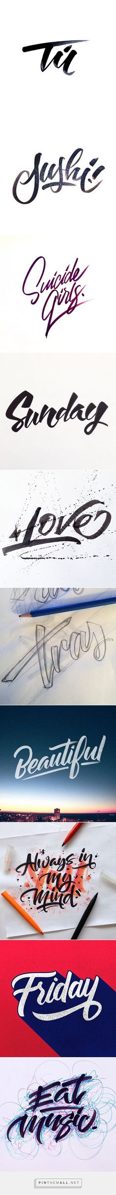 Brushpen Lettering Set 1 by David Milan