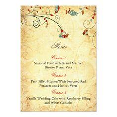 Shop rustic vintage purple floral wedding menu cards created by blessedwedding. Shabby Chic Wedding Invitations, Wedding Menu Cards, Fruit In Season, Vintage Floral, Floral Wedding, Paper Texture, Rustic, Purple, Aqua