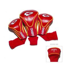 Kansas City Chiefs NFL 3 Pack Contour Fit Headcover