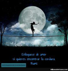 MillonesDeFrases - Enloquece de amor si quieres encontrar la cordura. Rumi