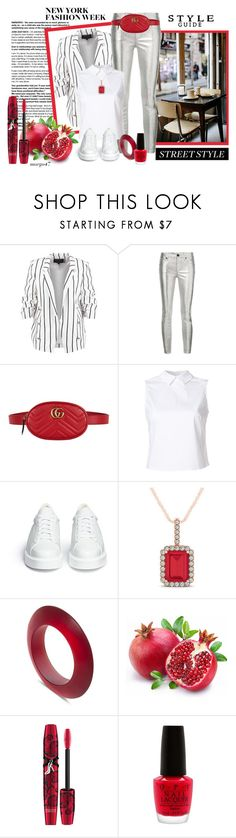 """street style"" by margo47 ❤ liked on Polyvore featuring Coffee Shop, RtA, Gucci, Misha Nonoo, Robert Clergerie, Allurez, Physicians Formula and OPI"