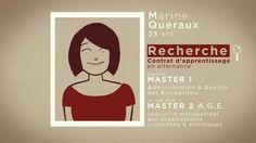 Original #curriculum animado de Marine Queraux