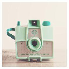 vintage savoy mint camera photo print -