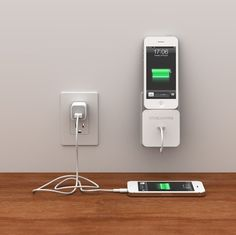 Rolio iPhone 5s/5c Charger by Bluelounge - A wall dock and cable management system, rolled into one