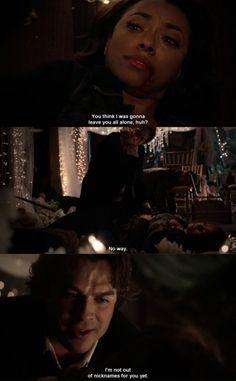"Kat Graham (Bonnie) and Ian Somerhalder (Damon) - ""The Vampire Diaries"""