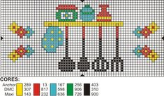This Pin was discovered by Çiğ Cross Stitching, Cross Stitch Embroidery, Cross Stitch Patterns, Cross Stitch Kitchen, Plastic Canvas Patterns, Knit Or Crochet, Needlepoint, Needlework, Diy And Crafts