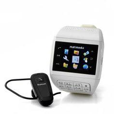 """Cheap Mobile Phones - Cell Phone Watch 11429 - Reloj teléfono móvil con teclado """"cuarzo"""" - Dual SIM, pantalla táctil, auricular Bluetooth, tarjeta micro de 4GB SD."""