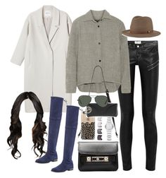 """""""Inspired outfit for uni"""" by pagesbyhayley ❤ liked on Polyvore featuring Yves Saint Laurent, Monki, Isabel Marant, rag & bone, Proenza Schouler, Stuart Weitzman, Burberry, Ray-Ban and Luv Aj"""
